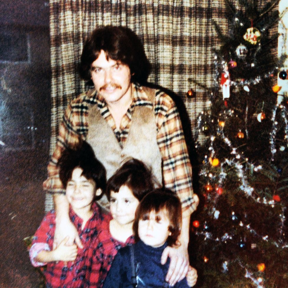 Sonny with his three sons, Christmas, 1979
