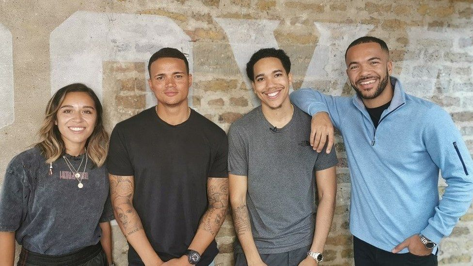 Chelcee Grimes, Jermaine Jenas, Craig Mitch and Reece Parkinson