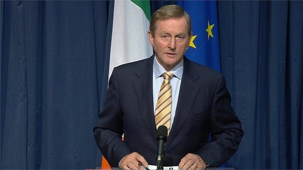 Enda Kenny said the Dáil (Irish Parliament) is to be recalled on Monday to discuss the referendum result