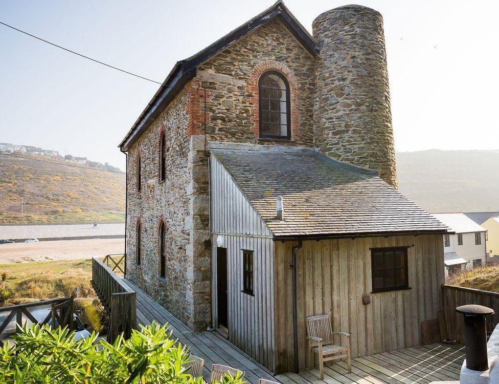 Artist impression of restored engine house at The British iron works, Abersychan