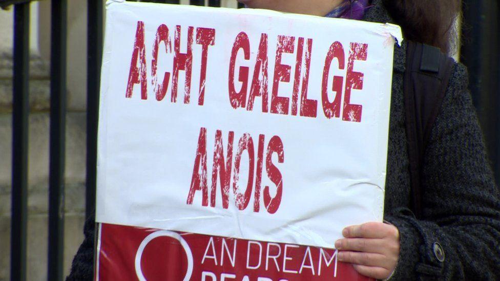 Se han incluido proyectos de disposiciones para las nuevas leyes sobre el idioma irlandés en el acuerdo de la Nueva Década y el Nuevo Enfoque en 2020