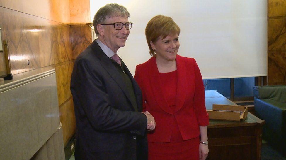 Bill Gates also met First Minister Nicola Sturgeon
