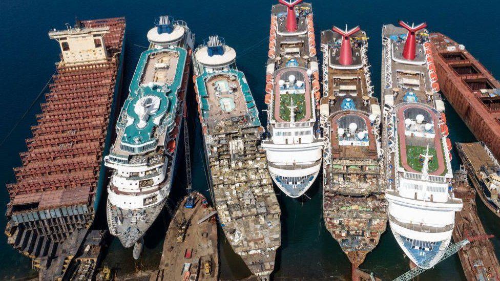 Shipbreaking yard in Turkey