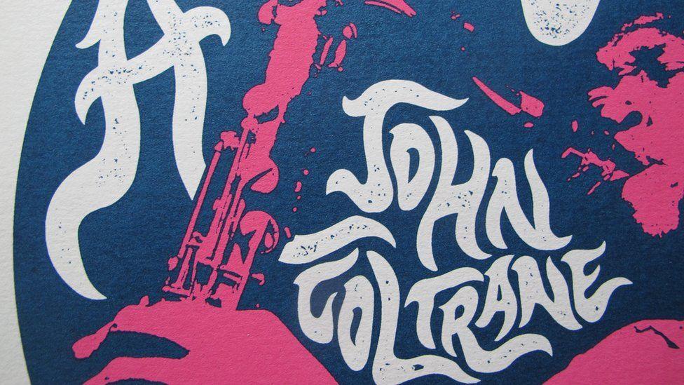 We Three Club's screen print of A Love Supreme by John Coltrane