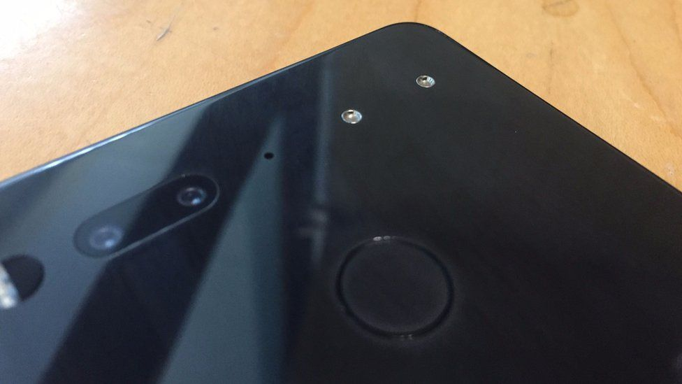 The Essential Phone's magnetic connector allows for the quick snap-on of accessories