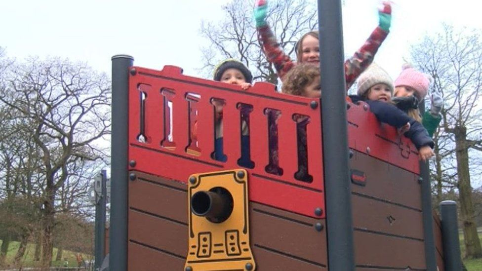 The revamped playground