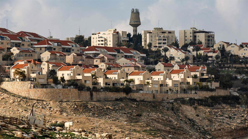 Jewish settlement of Maale Adumim in the occupied West Bank (28 January 2020)