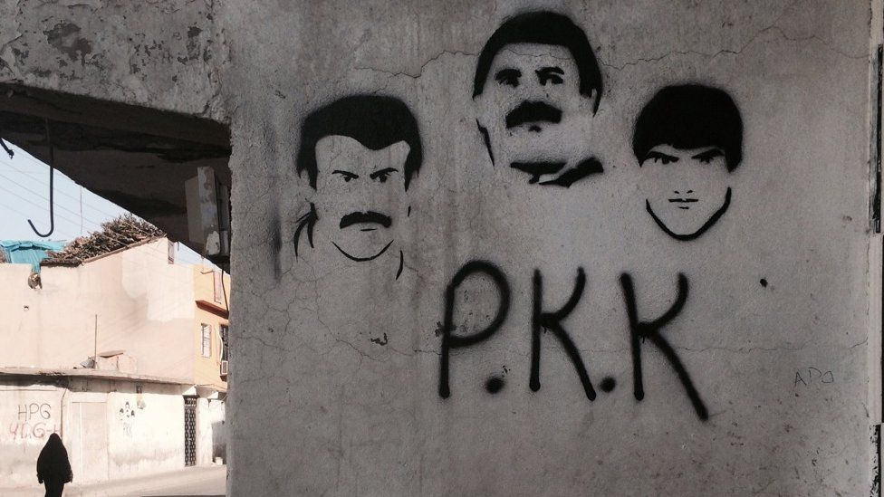 PKK graffiti in Cizre