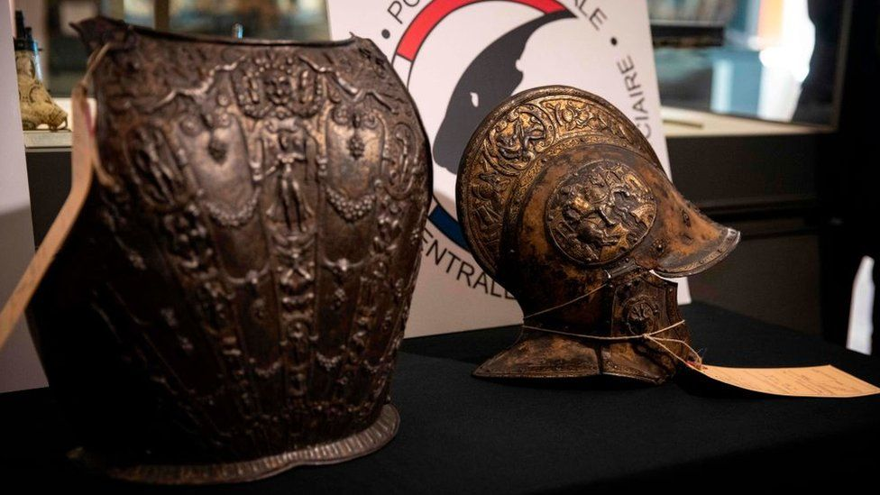 Ornate ceremonial helmet and breastplate