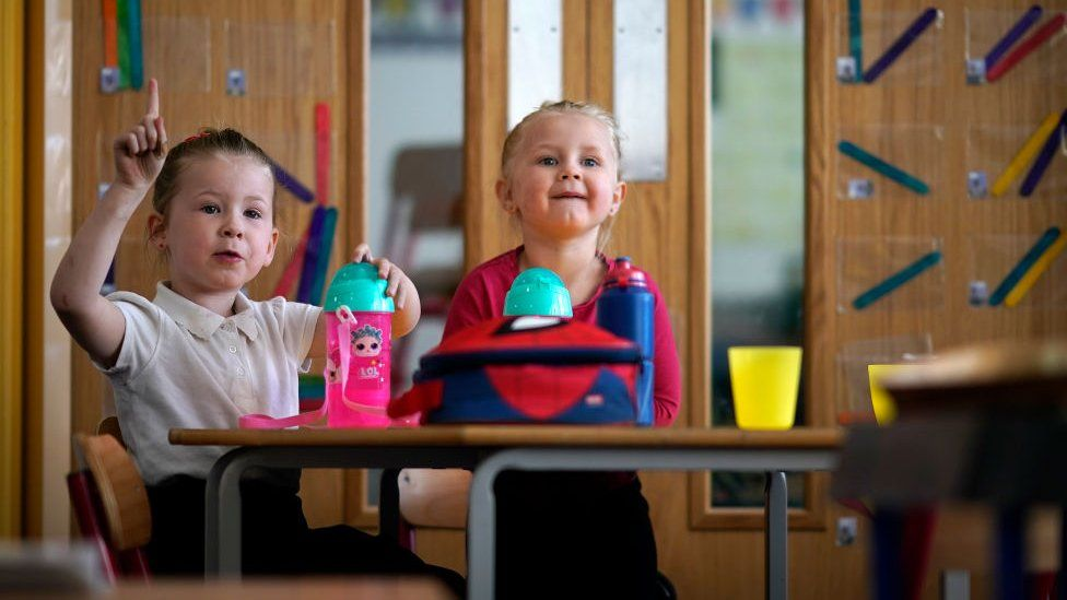 Children of key worker's at a school in Altrincham