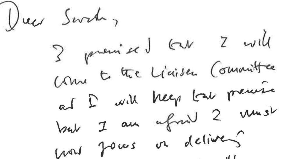 Boris Johnson's letter