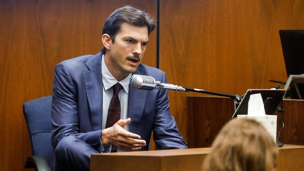 Actor Ashton Kutcher testifies at the murder trial of accused serial killer Michael Thomas Gargiulo in Los Angeles, California, U.S., May 29, 2019.
