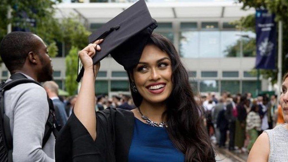 Bhasha Mukherjee's insatgram post from her graduation