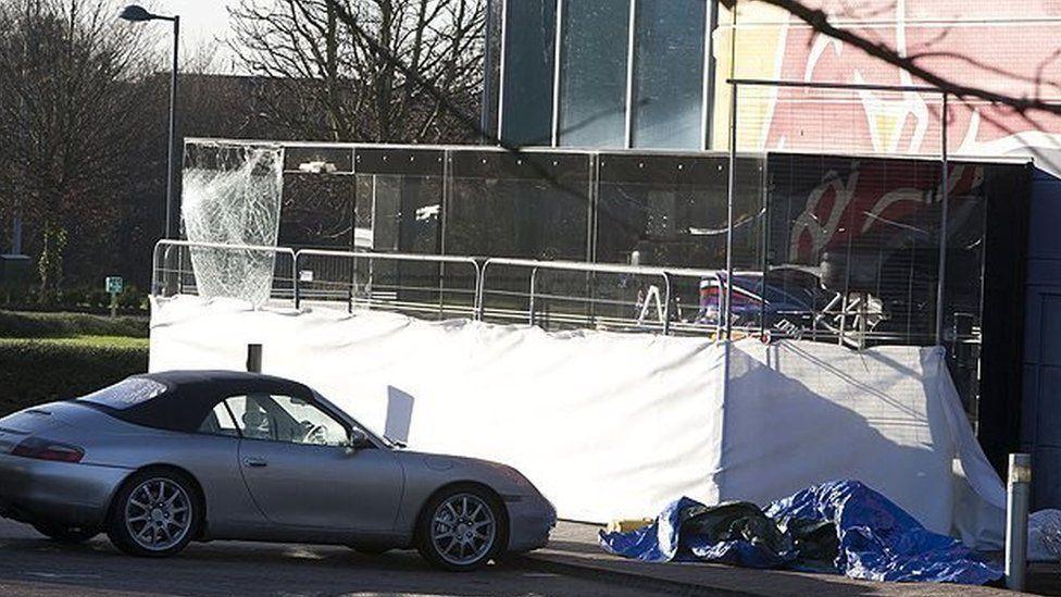 Scene of break in at Red Bull Racing in Milton Keynes