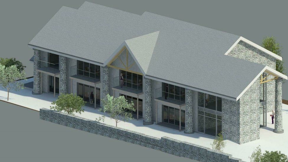The proposed building
