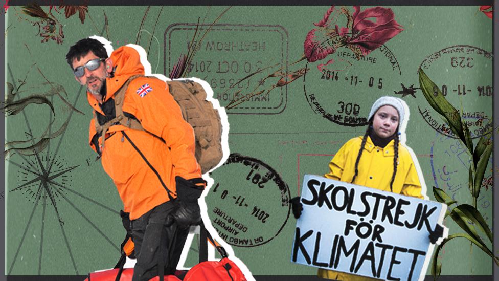 Justin Rowlatt and Greta Thunberg