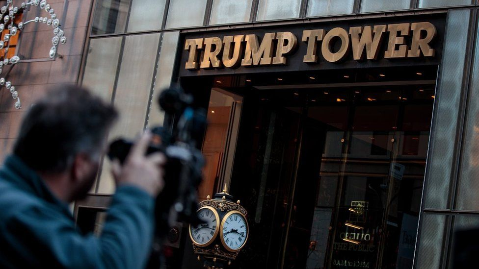 The exterior of Trump Tower
