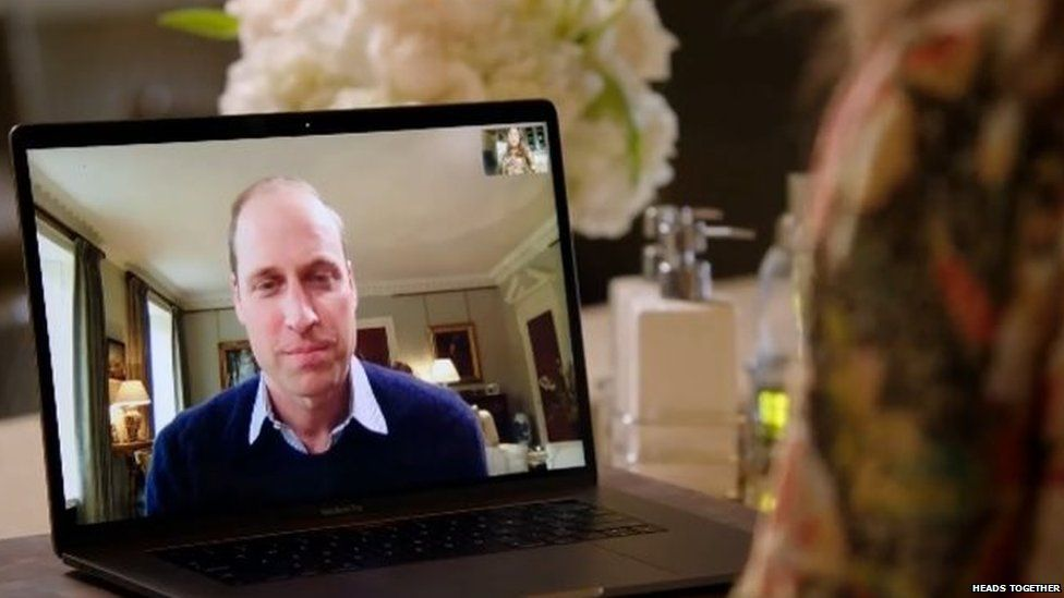 Prince William on FaceTime from Kensington Palace