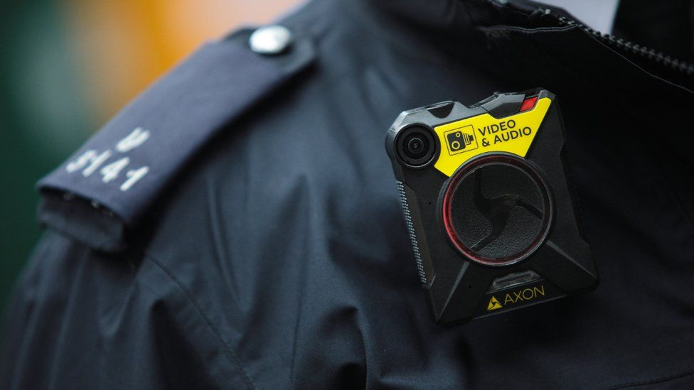 A body camera on a British police officer
