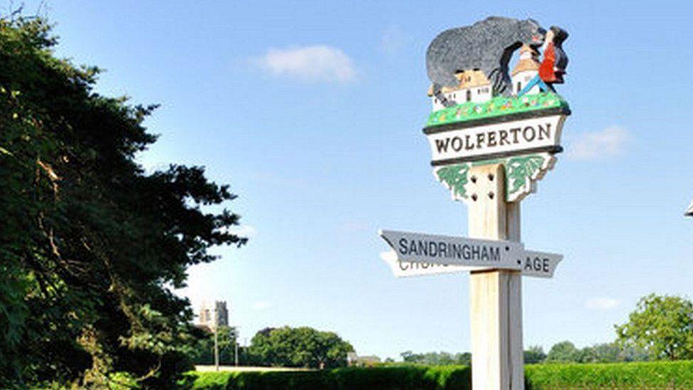 Wolferton village sign