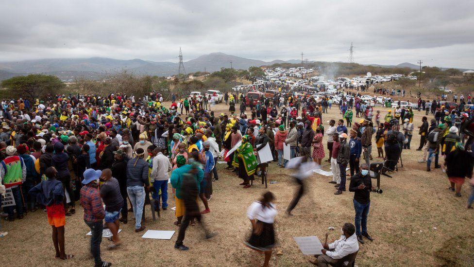 supporters gather at nkandla
