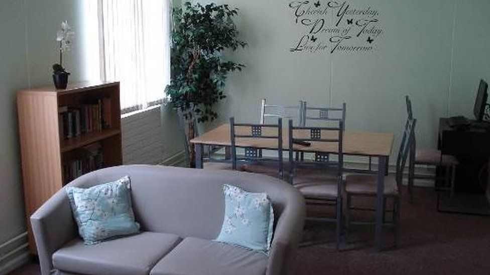 A room in the supported living facility