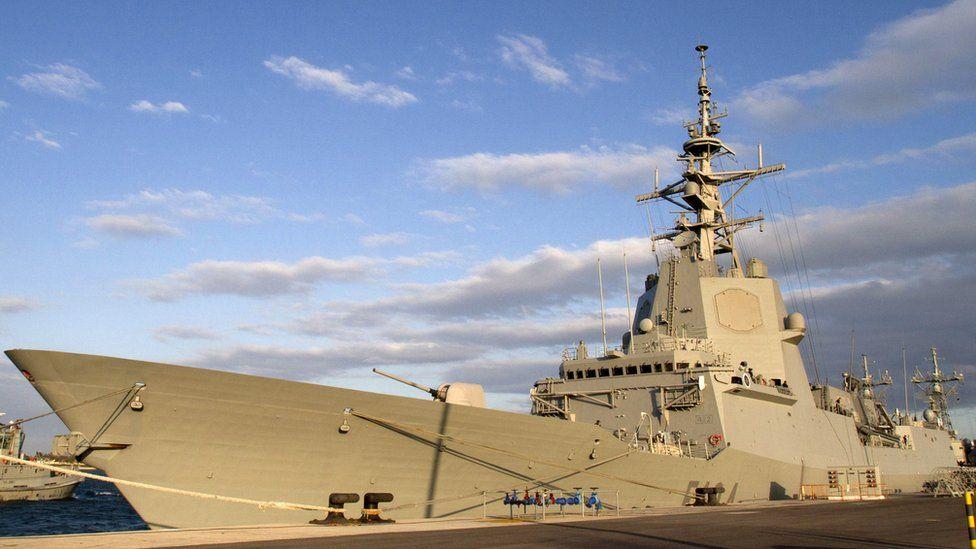 File photo showing Spanish naval frigate Mendez Nunez docked in Cadiz on 22 March 2011