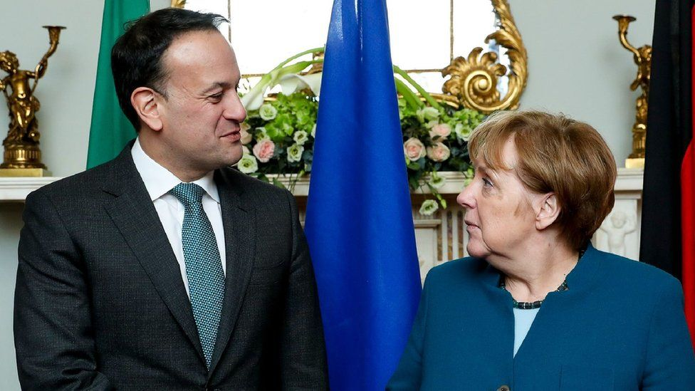 Irish Prime Minister Leo Varadkar and German Chancellor Angela Merkel