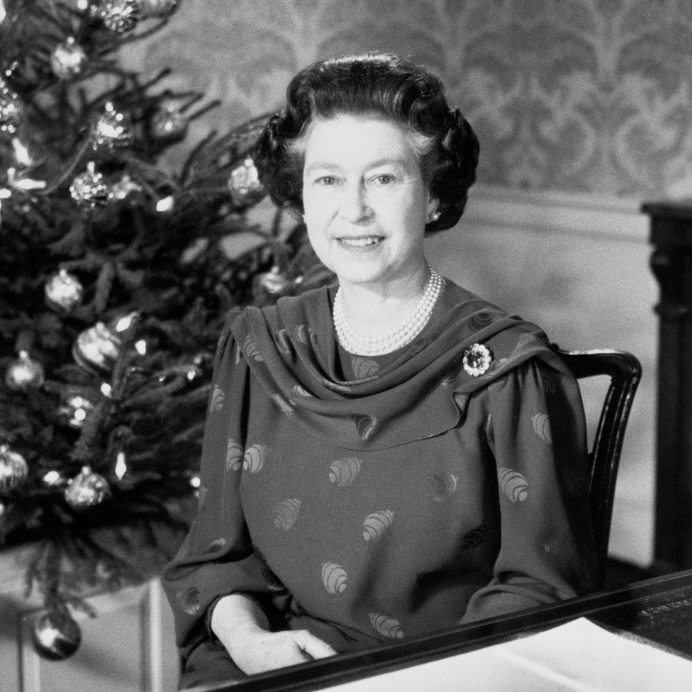 The Queen making her traditional Christmas Day address to the nation and the Commonwealth