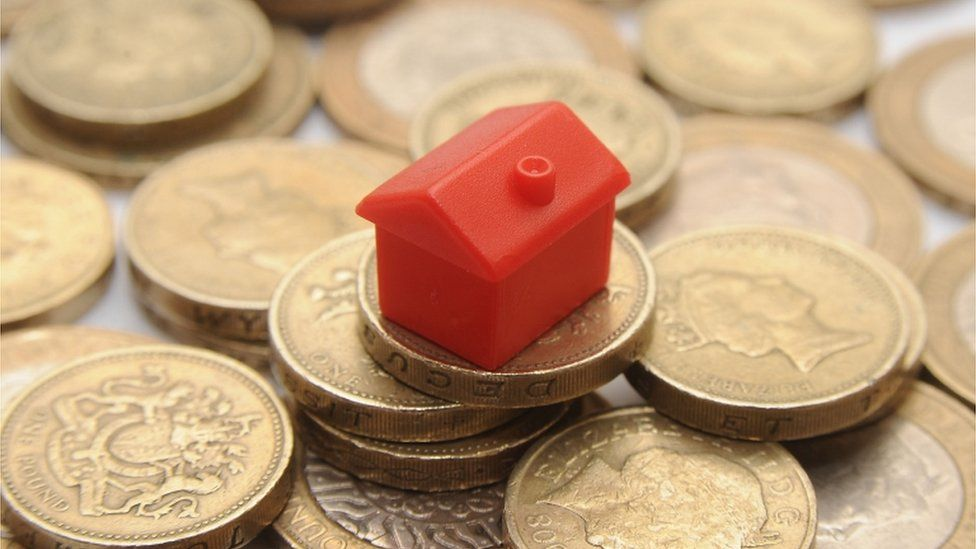 Monopoly house on pound coins