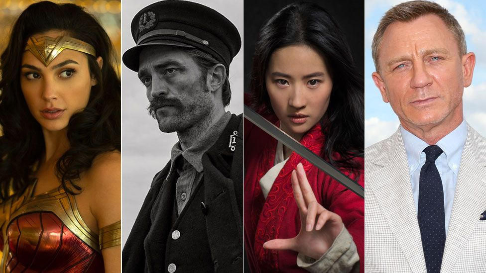 Gal Gadot as Wonder Woman, Robert Pattinson in The Lighthouse, Yifei Liu as Mulan and Daniel Craig