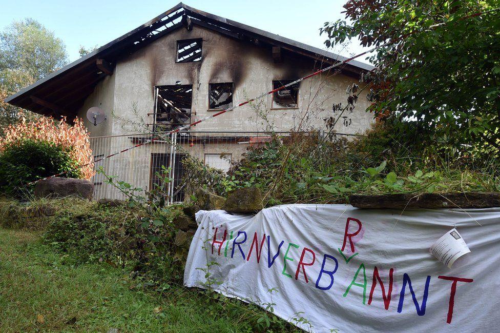 Remchingen asylum hostel gutted by fire, 25 July 15