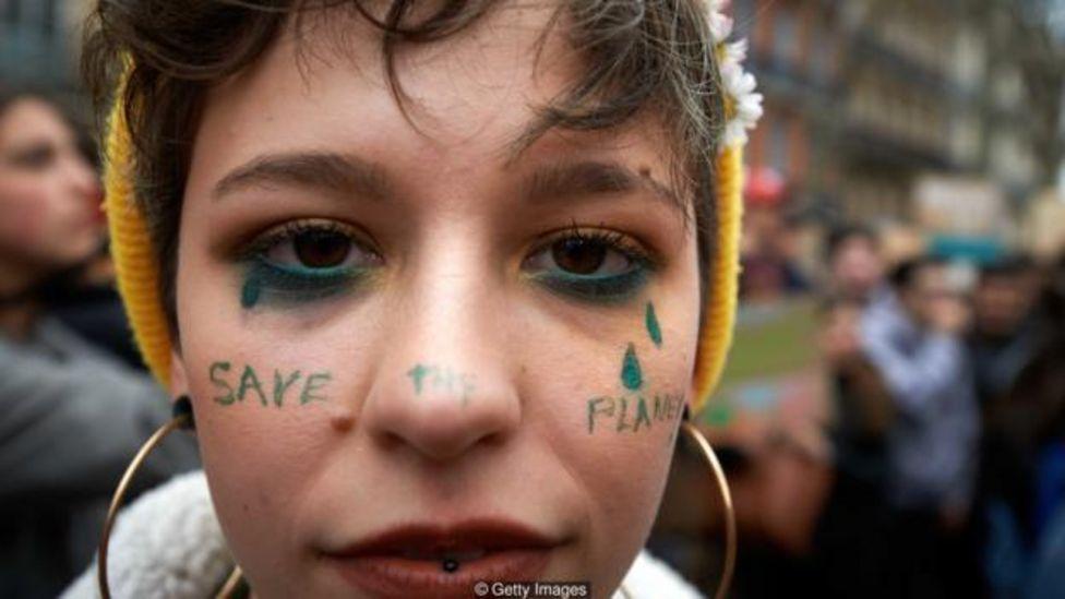 Protesta en defensa del planeta