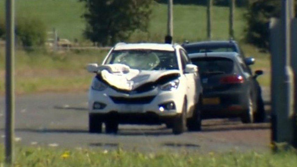 Scene of Newtownards collision