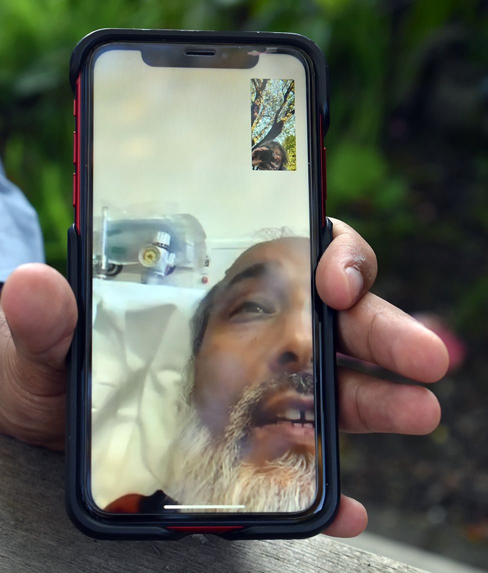 Mohammed Hussain on video call