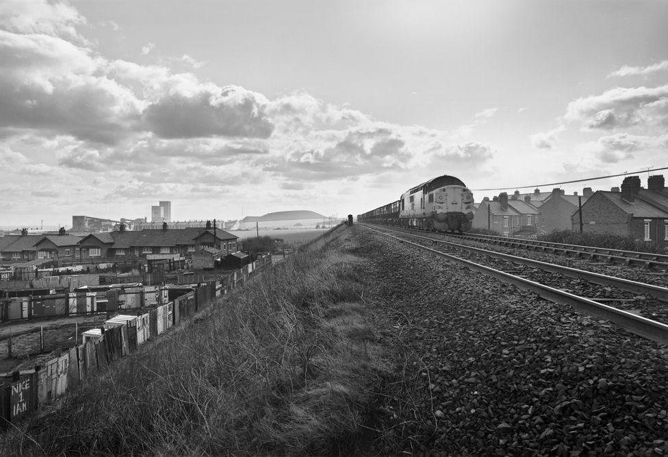Coal Train and Dawdon Colliery, Seaham, England 1983