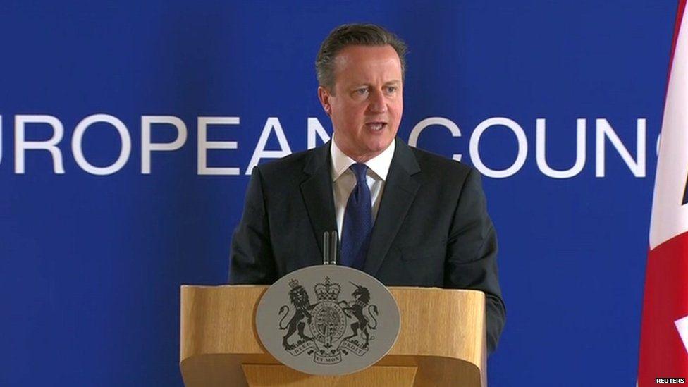David Cameron at an EU summit