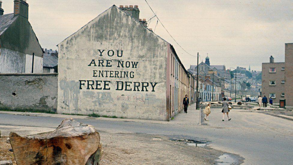 Free Derry Corner in July 1972