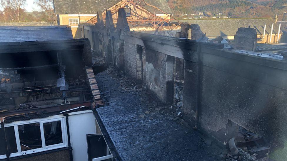 school fire damage