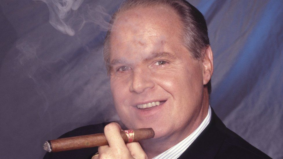 Rush Limbaugh smoking cigar