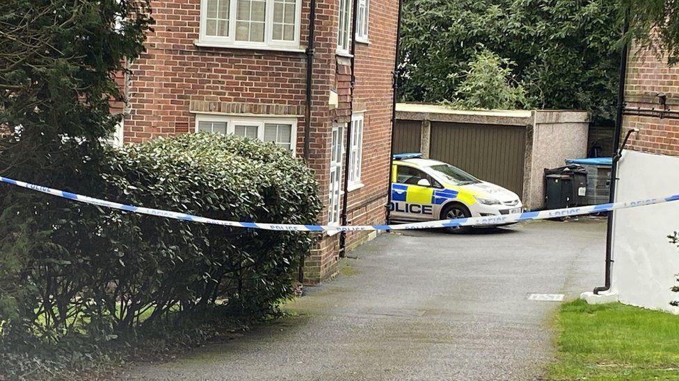 Crime scene in Vale Road