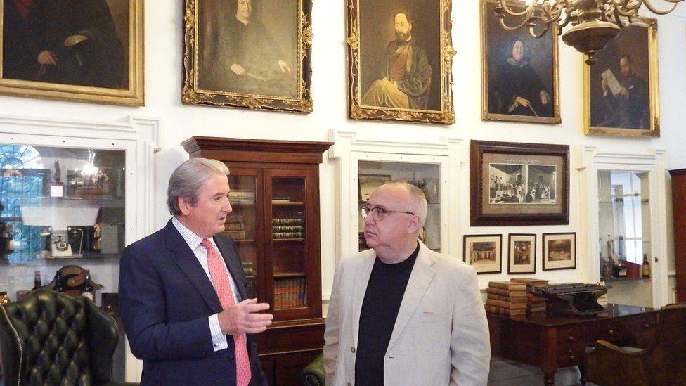 Pedro Revuelta Gonzalez (left) with BBC's Kevin Connolly