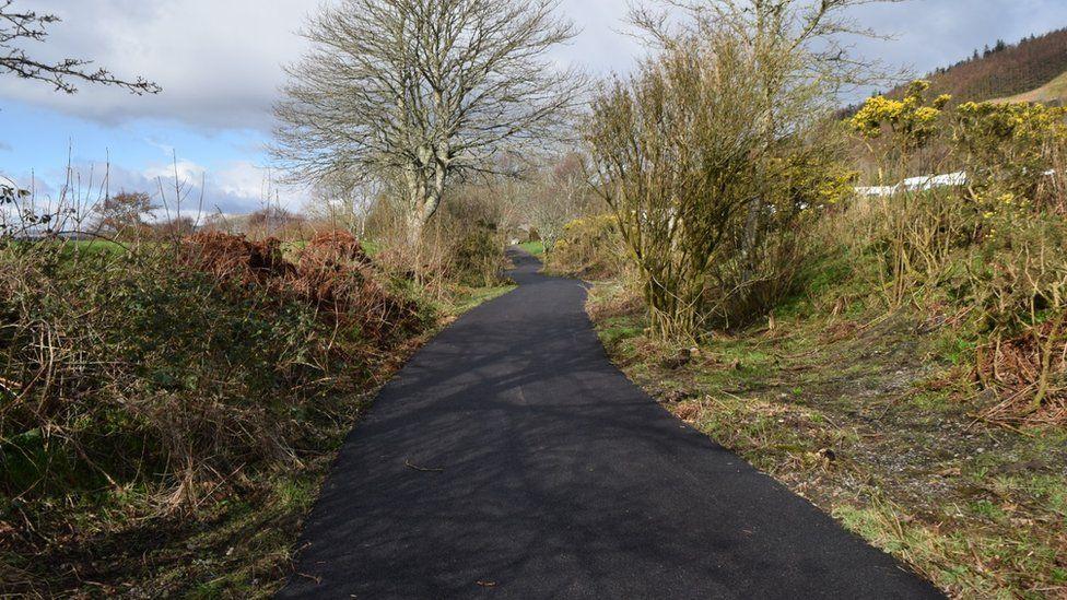 section of the Caledonia Way at Ledaig