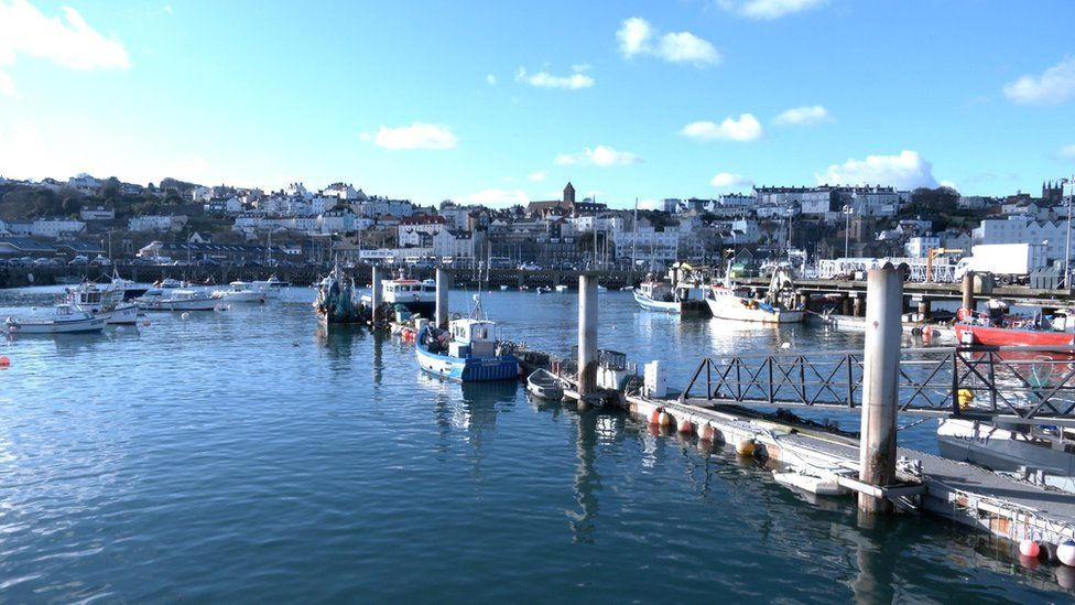 Fishing boats in St Peter Port harbour