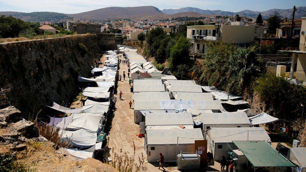 Souda tented camp, Chios - file pic