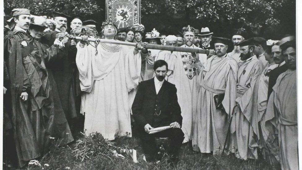 Marquess of Anglesey with gorsedd in 1902