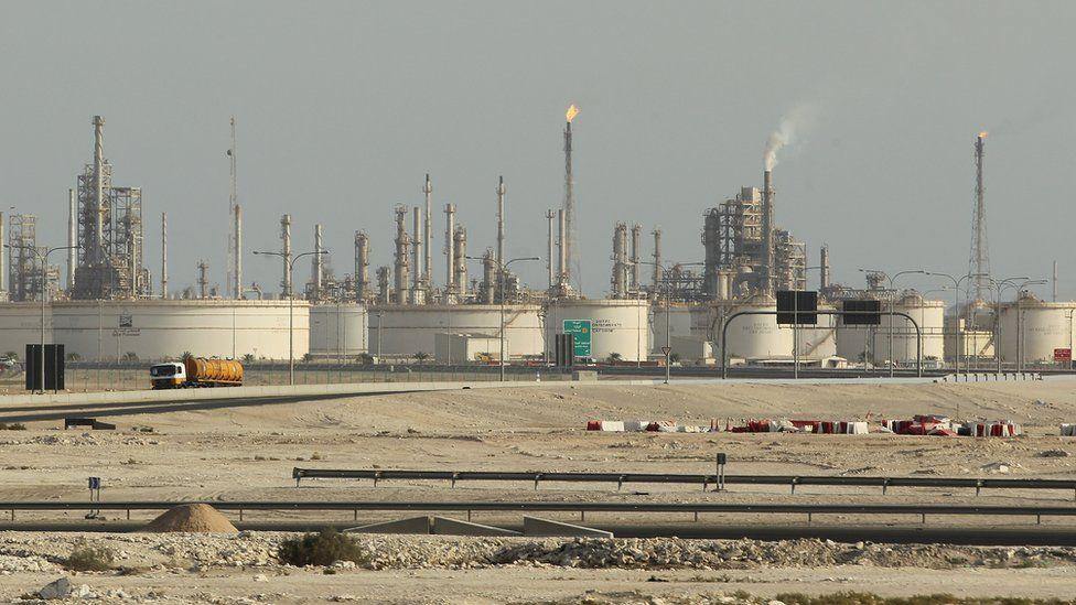 A Qatar Petroleum refinery near Umm Sa'id, Qatar