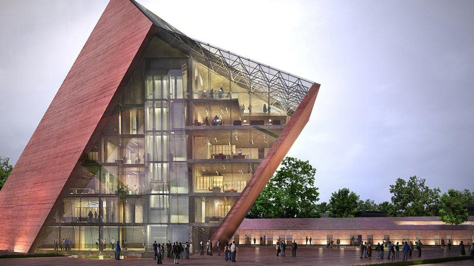 Architectural visualisation shows how the World War Two Museum in Gdansk, Poland, is projected to look after its completion