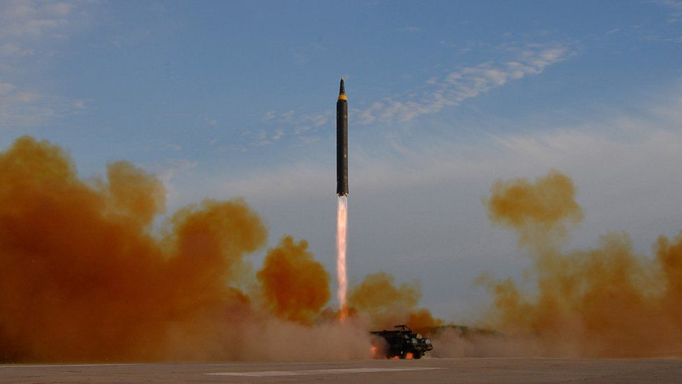 North Korea Hwasong 12 missile launch