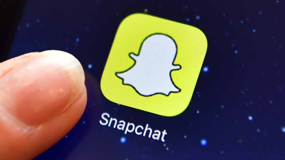 Snapchat icon on mobile phone